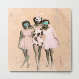 Imaginary Friends- Playmates Metal Print