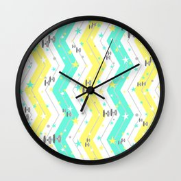 Star Wars Chevrons and Tie Fighters Wall Clock
