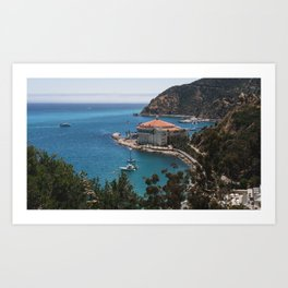 Avalon Bay, Catalina Casino Art Print