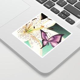 White Lily Sticker