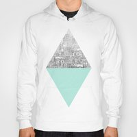 shapes Hoodies featuring Diamond by David Fleck