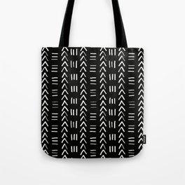 Mudcloth No.2 in Black + White Tote Bag