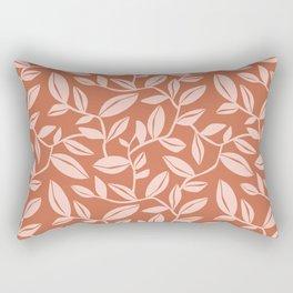 Orchard - Leaf Botanical Terra Cotta & Blush Rectangular Pillow