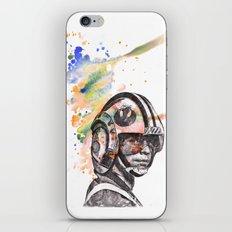 Luke Skywalker From Star Wars in Rebel Flight Helmet  iPhone & iPod Skin