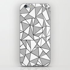 Abstraction Lines Black on White iPhone & iPod Skin