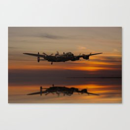 Lancaster Bomber Landfall Canvas Print