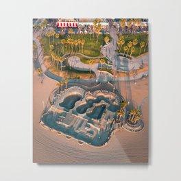 Venice Skatepark Metal Print