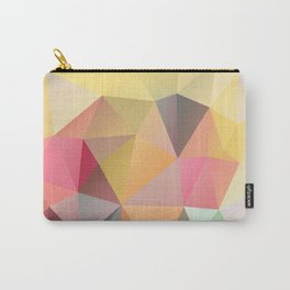 Polygon print bright colors Carry-All Pouch
