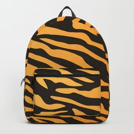 Tiger stripes animal print pattern Backpack