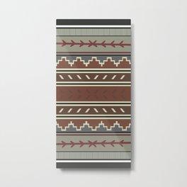 American Native Pattern No. 307 Metal Print