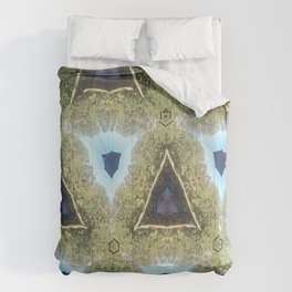 Modern Moroccan Purple and Blue Comforters