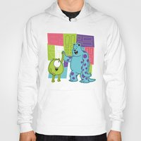 monster inc Hoodies featuring Monster Time by Moysche Designs