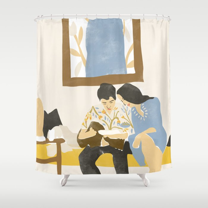 You And Me And The Music Shower Curtain