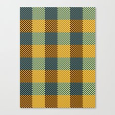 Pixel Plaid - Winter Walk Canvas Print