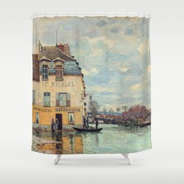 Alfred Sisley - Flood at Port-Marly Shower Curtain