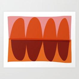 Orange and Pink Eliptical Art Print