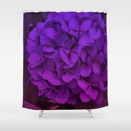 Ombre Geranium Shower Curtain