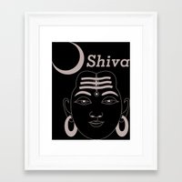 shiva Framed Art Prints featuring SHIVA by Michael J. Chavez