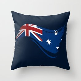 The Flag of Australia I Throw Pillow