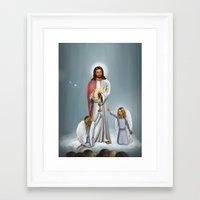 christ Framed Art Prints featuring Jesus Christ by Georgi Minkov