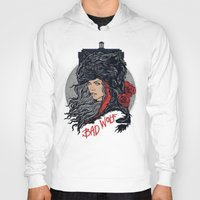 bad wolf Hoodies featuring Bad Wolf by zerobriant