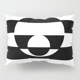 B&W Stripe Disco Pillow Sham