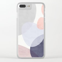 Pastel Shapes III Clear iPhone Case