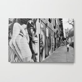 27 Club Mural Lower East Side New York Black And White Metal Print
