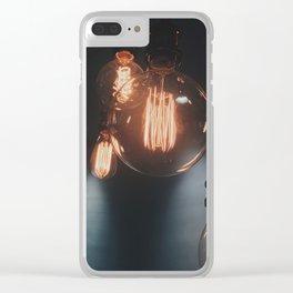 bulb aesthetic Clear iPhone Case