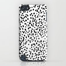 Nadia - Black and White, Animal Print, Dalmatian Spot, Spots, Dots, BW iPod touch Slim Case