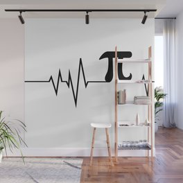 Heart beats only for PI Wall Mural