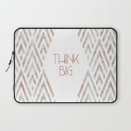 Graphic Art THINK BIG | rose gold & marble Laptop Sleeve