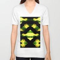 reggae V-neck T-shirts featuring Reggae Fields by Stoian Hitrov - Sto