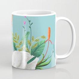 Bond, Jungle Animals, Swan Family Nature Pond Illustration, Bohemian Ducks Love Colorful Botanical Coffee Mug