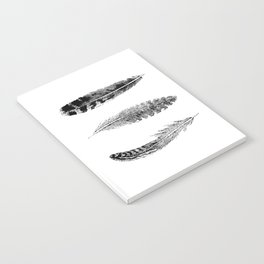 Feather Trio | Black and White Notebook
