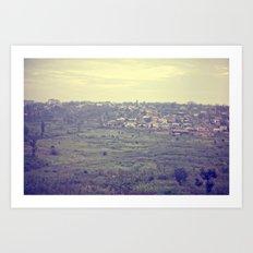 city in the hills::rwanda Art Print