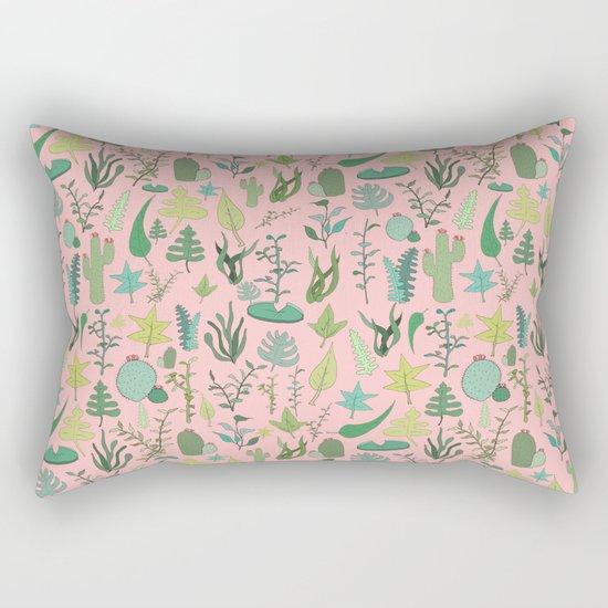 Nature Pink Rectangular Pillow