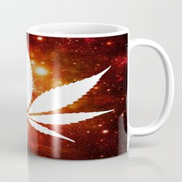 Weed : High Times Orange Red Pink Galaxy Coffee Mug