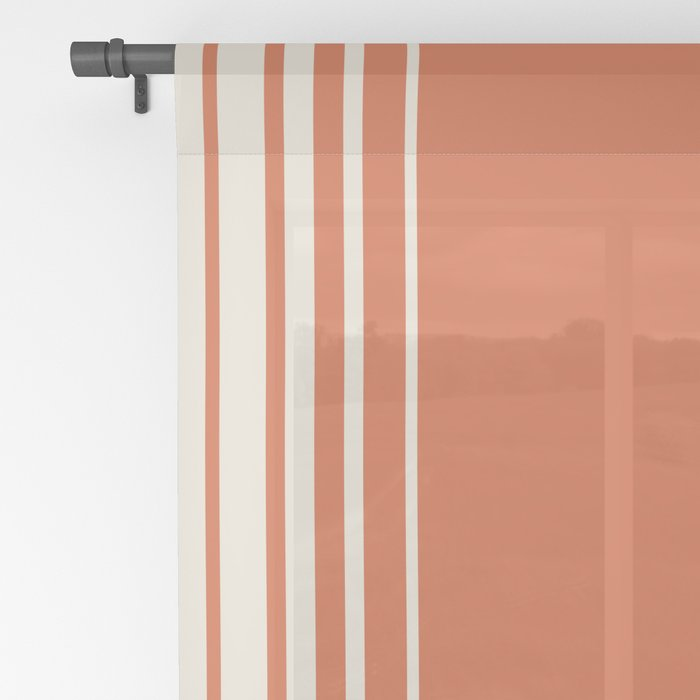 Marmalade & Crème Vertical Gradient Sheer Curtain