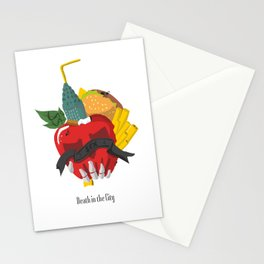 Death in the city Stationery Cards