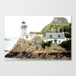 The lighthouse of Louet - France Canvas Print