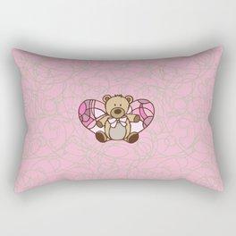 Teddy Bear Angel Rectangular Pillow