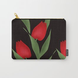 Tulips on black . Carry-All Pouch