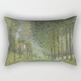 Alfred Sisley - Rest along the Stream. Edge of the Wood, 1878 Rectangular Pillow