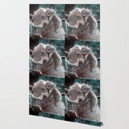 Koala, Mummy and Baby Wallpaper