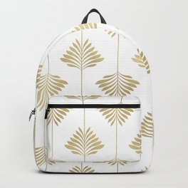 Gold leafs art-deco pattern Backpack