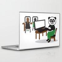 teacher Laptop & iPad Skins featuring Panda Teacher by WCVS Online