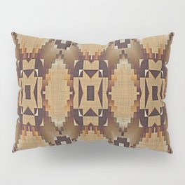 Khaki Tan Orange Dark Brown Mosaic Pattern Pillow Sham