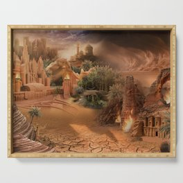 Desert paradise on the edge of Hell - Sandstorm Serving Tray