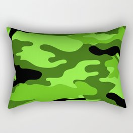 Green Camouflage Rectangular Pillow